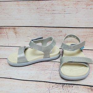 Native Girls Sz 9 Charley Silver Glitter Sandals